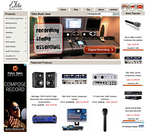 custom designed e-commerce website solutions